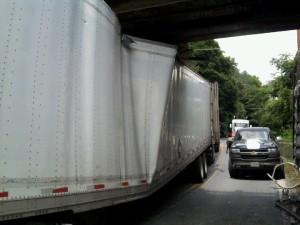 Stuck under a bridge (2)